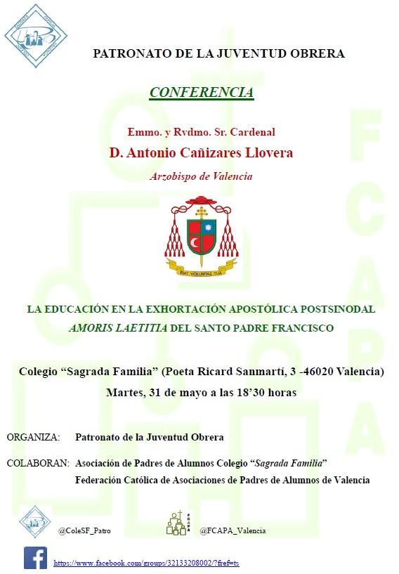 Invitación conferencia Sr. Arzobispo